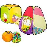 TecTake pop Up Kinderspielzelt | Spielhaus mit Bällebad | inkl. 200 Bälle + Tasche | -diverse Modelle-
