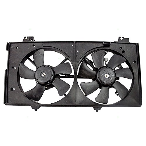 (Dual Cooling Fan Motor Shroud Assembly Replacement for Mazda 3.0L AJ57-15-025N AJB4-15-025E AutoAndArt)