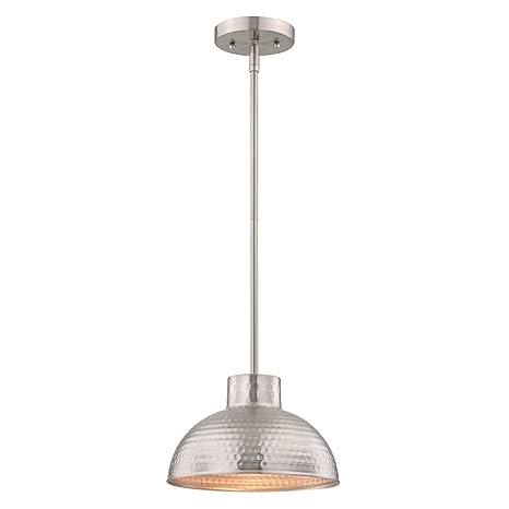 Westinghouse Lámpara de Techo Colgante de 1 Luz con Barra Segmentada E27, Níquel Satinado