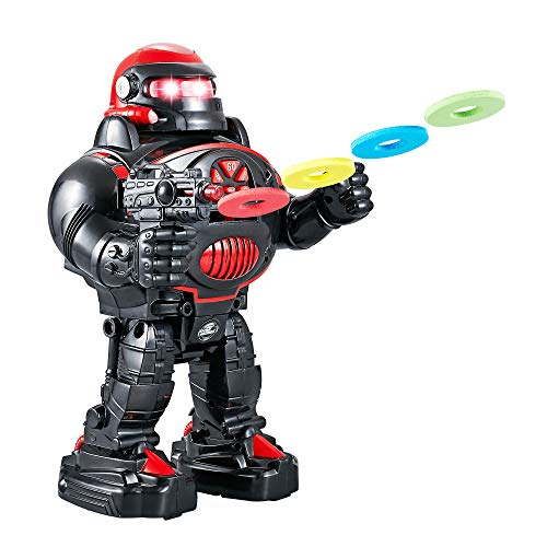 Think Gizmos Remote Control Robot for Kids - RoboShooter Robot Toy for Boys & Girls Aged 5 6 7 8 (Black)