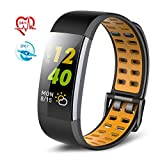 TECKEPIC Fitness Tracker Bracelet Watch - Sports Waterproof Activity Tracker with 24H Heart Rate Monitor, Exercise Intensity Indicator Lights, Sleep Monitor, Steps and Calories Counter