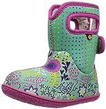 Bogs Baby Snow Boot, New Flower dot Mint Green/Multi, 6 Medium US Toddler