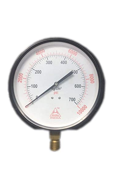 Pressure Gauge Dual Scale 0-700 BAR /& 0-1000 PSI 3//8 BSP