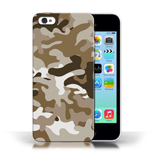 Etui / Coque pour Apple iPhone 5C / Marron 1 conception / Collection de Armée/Marine militaire/Camouflage