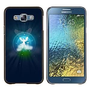Caucho caso de Shell duro de la cubierta de accesorios de protección BY RAYDREAMMM - Samsung Galaxy E7 E700 - Libra signo del zodiaco