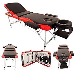 Merax WF015763JAA Aluminium 3 Section Portable Folding Massage Table Facial SPA Tattoo Bed