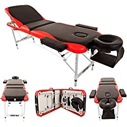 Merax WF015763JAA Aluminium 3 Section Portable Folding Massage Table Facial Spa Tattoo Bed