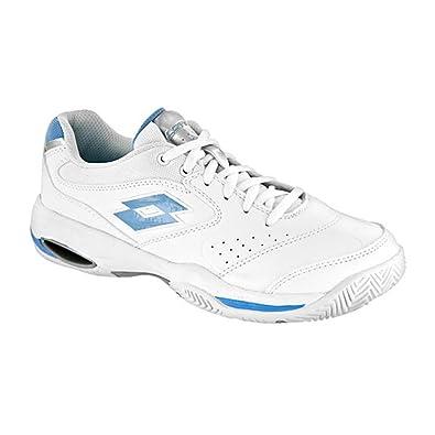 ecda8cc30f2 Lotto Ariel Women s Tennis Shoes (White Blue) (9.5 B(M)