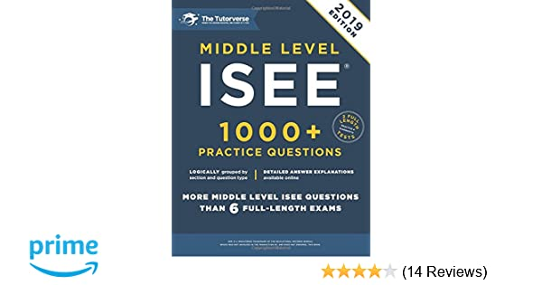 Middle Level ISEE 1000 Practice Questions The Tutorverse 9781532811258 Amazon Books