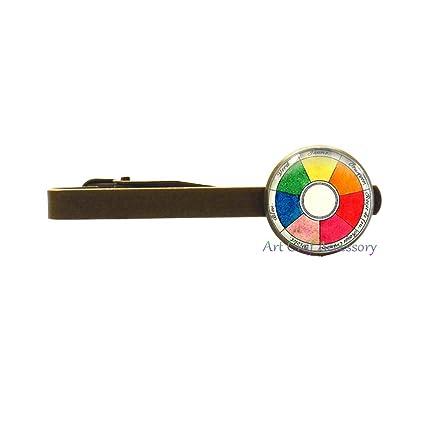 Clip para corbata de rueda de color moderno, para artistas, pines ...