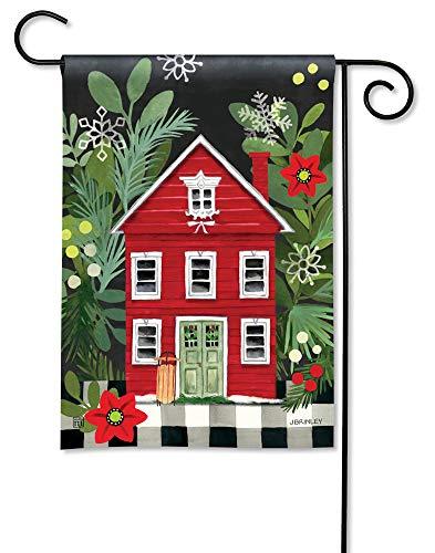 BreezeArt Studio M Homespun Christmas Decorative Garden Flag - Premium Quality, 12.5 x 18 Inches