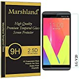 Marshland® LG V20 Tempered Glass Screen Protector Glass Optically Clear Adhesive Tempered Glass Bubble-free Oleo phobic Coating Crystal Clear for LG V20 Screen Protector
