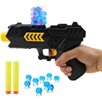 Yuanzu Toy Gun Shooting Gun Toy Orbeez Gun Foam Bullets and Water Bombs Dual-Purpose Pistol with 2 PCS EVA Soft Bombs and 10000 PCS Crystal Bullets