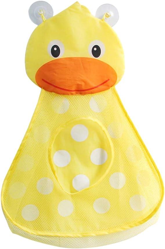 Imagen deBESTOMZ Cartoon Bathtub Toy Storage Bag Bolsa de Malla Baño Toy Organizador Holder Organizador de baño (Pato)