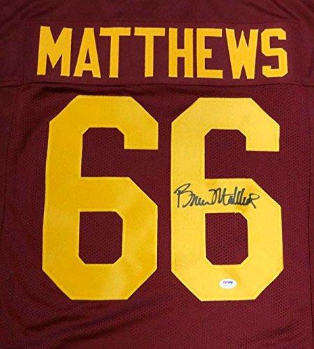 (Bruce Matthews Autographed USC Trojans Jersey PSA/DNA)