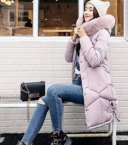 Transition Doudoune Mince Costume Chemine Capuchon Parka Doudoune Stepp Longues Long Outdoor Tous avec Manches Femme Pink Fourrure Loisir Hiver Chaud Les Fashion Jours Manteau Z6wpcYxqRH