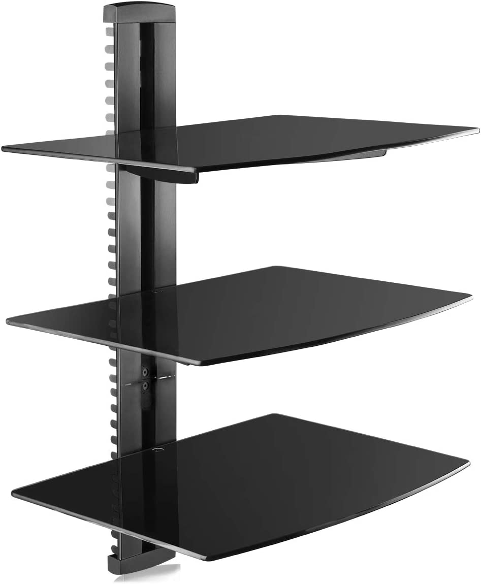 Suptek 3 Floating Regal Multimedia Wandregal Tv Rack Amazon De