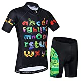 Kids Cycling Jersey Short Set Children Bike Gel Padded Bicycle Short Sleeve Jersey Suit Boys Girls S