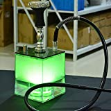 Best Hookah Sets - Clear LED Shisha Hookah One Hose Big Smoke Review