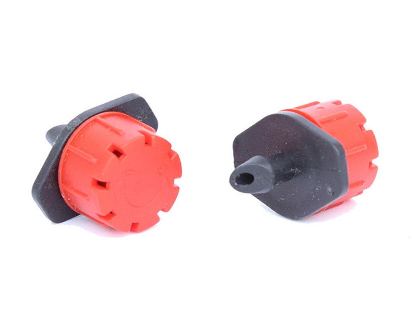 homeyuser 50pcs Micro Flow Dripper Drip Head Adjustable Garden Irrigation Misting 1/4'' Hose Sprinkler Watering Dripper Drip System