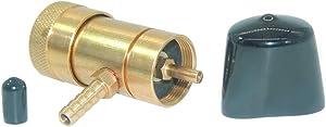 JoyTube Oxygen Regulator for Homebrewing, Oxygen Valve Solid Brass Adapter for Disposable Tanks with hose Barb Fitting