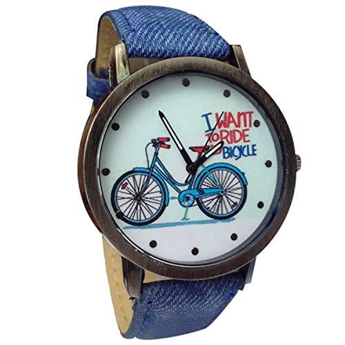 Waist Watch watches women Relogio fashion Geneva Women Jean Strap Bicycle Crystal Analog Quartz Wrist Watch Ladies diess Bracelet clock ()