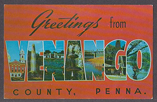 Greetings from VENANGO County PA large letter postcard 1950s