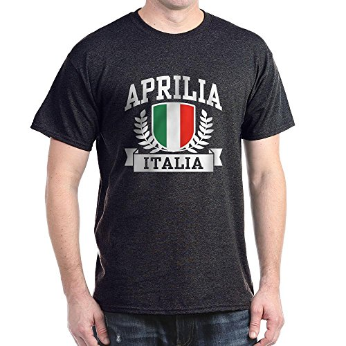 (CafePress Aprilia Italia 100% Cotton T-Shirt Charcoal)