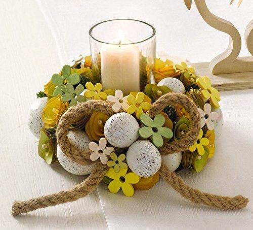 Idee regalo portacandela a corona per pasqua grande 20 cm - Decorazioni gialle ...