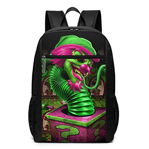 Hatchetman ICP Box Snake Travel Outdoor Backpack College School Computer Bag For Women & Men Fits 17 Inch Laptop And Notebook