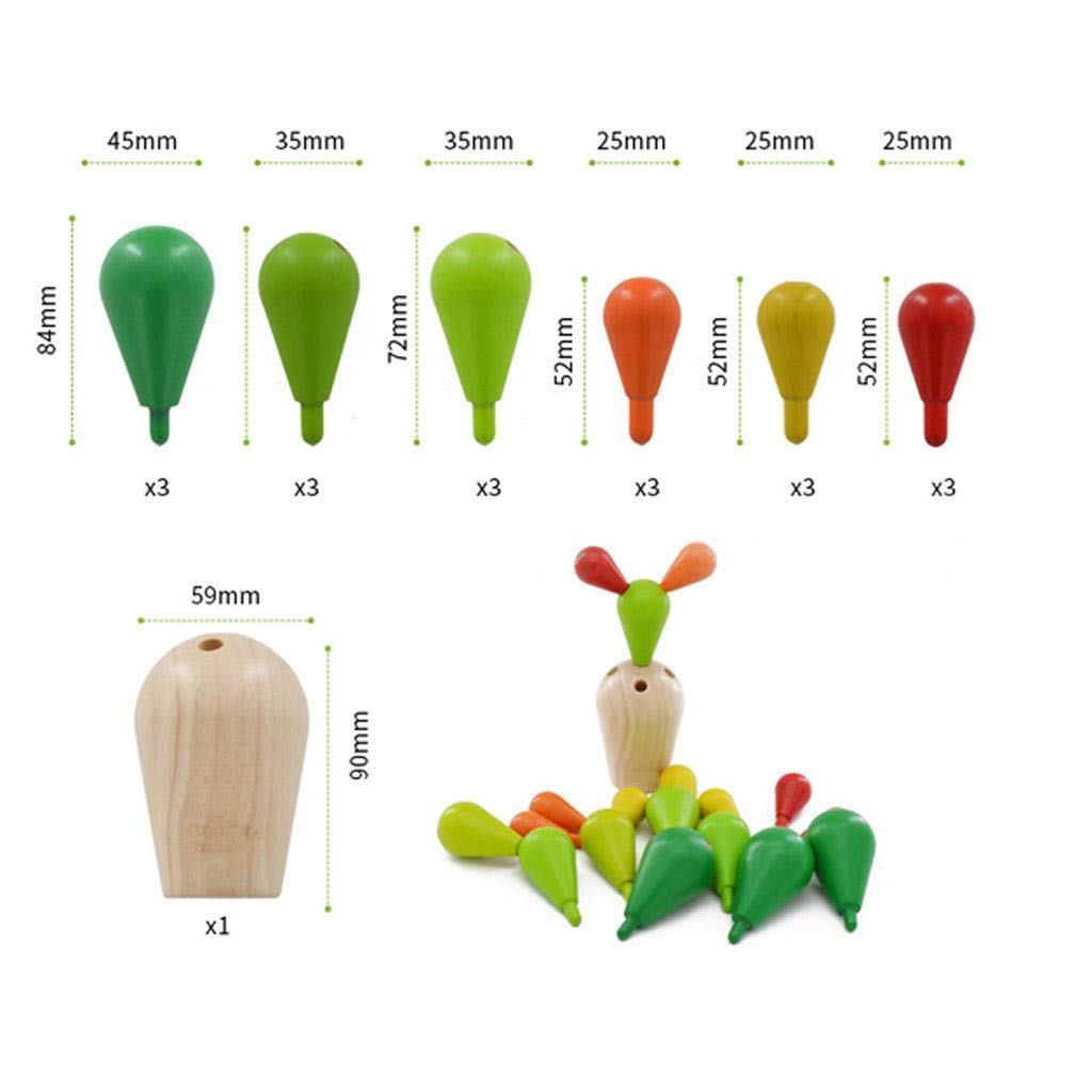 HXGL-Toys Wooden Prickly Pear Multi-Colored Toy Balance Children's Gift (Color : Green) by HXGL-Toys (Image #8)