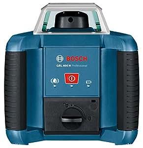 Bosch GRL 400 H - Nivelador láser (30h, Níquel-Hidruro metálico (NiMH), 18 cm, 19 cm, 17 cm) Negro, Azul