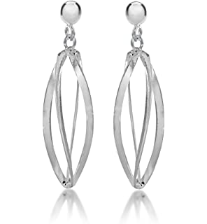 Tuscany Silver Sterling Silver Double Teardrop and Ball Drop Earrings