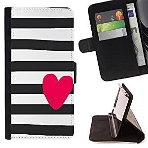 Heart Pink Valentines Sailor Stripes Grey - Painting Art Smile Face Style Design PU Leather Flip Stand Case Cover FOR HTC DESIRE 816 @ The Smurfs