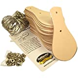 Key Fob Kits 25 Pack 4149-99 - Vegetable Tanned Tooling Leather with Key Ring and Rivet