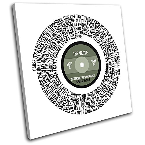 Bold Bloc Design - The Verve Bittersweet Symphony Song Vinyl Lyrics Record Musical cm