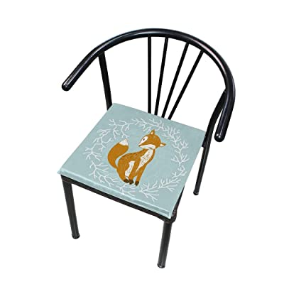 "Bardic HNTGHX Outdoor/Indoor Chair Cushion Animal Fox Pattern Square Memory Foam Seat Pads Cushion for Patio Dining, 16"" x 16"": Home & Kitchen"