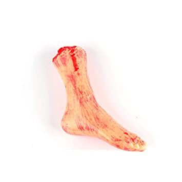 Halloween Scary Fake Body Parts Bloody Severed Arm Hand Foot Props Tricky Toy