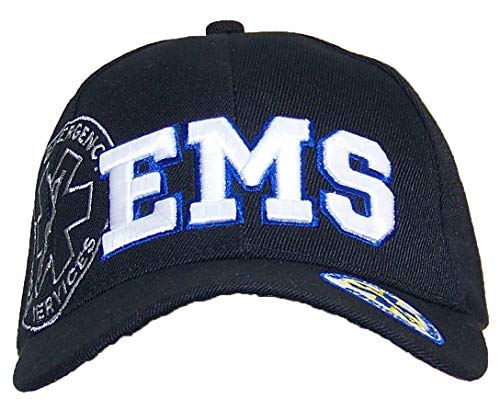 Y&W EMS Emergency Medical Services Badge On Bill Adjustable Hat (One Size)