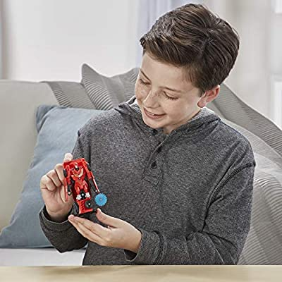 Transformers Toys Cyberverse Action Attackers: 1-Step Changer Autobot Hot Rod Action Figure -- Repeatable Fusion Flame Action Attack Move – for Kids Ages 6 and Up, 4.25-inch: Toys & Games