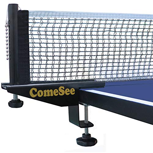 Cheap Comesee Professional Table Tennis Ping Pong Net Post Set Strength Screw Clamp with Net Clip In...