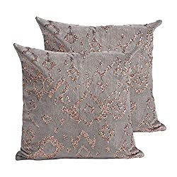 Decorative Throw Pillow Cover With Sequin Embroidered