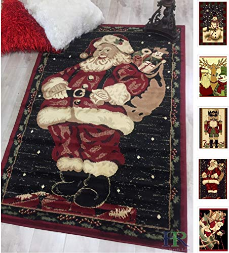Handcraft Rugs-Santa Claus Area Rug (Approximately 3 ft. by 5 ft.)