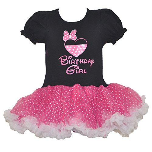 [Miki Mini Birthday Girl Polka Dot Dress (Large-BFD)] (Little Girl Minnie Mouse Costumes)