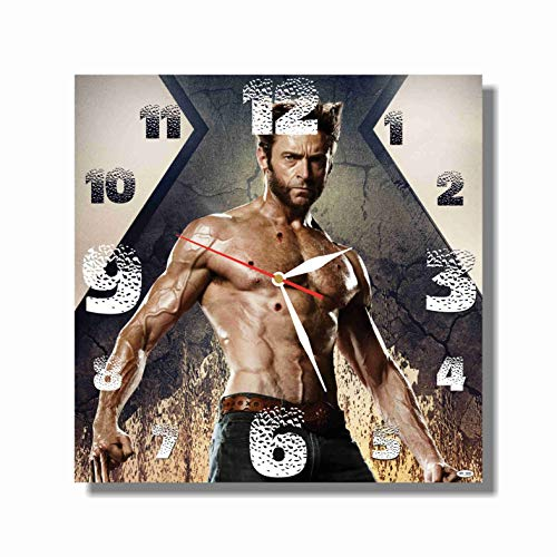 Art time production Logan - X-Men – Wolverine 11.4'' Handmade Wall Clock (Acrylic Glass) - Get Unique décor for Home or Office – Best Gift Ideas for Kids, Friends, Parents and Your Soul Mates ()