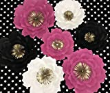 HANDMADE KATE SPADE INSPIRED,LARGE & MEDIUM SET OF 7 PAPER FLOWERS FOR BACKDROP,CAN BE USE AT weddings showers and photo walls. nursery decor, Paper Flower Wall Art