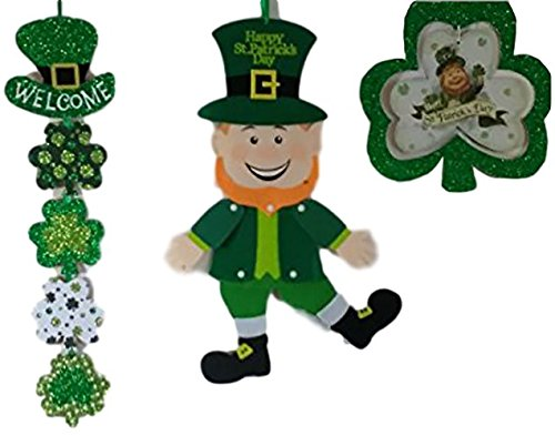 [St Pat Day Party Favors Decor Ornaments & Decorations for St Pats Day Perfect Shamrock Leprechaun Luck of the Irish Decoration St Patricks Day Decorations Accessories & Party] (Family Themed Halloween Costumes 2016)