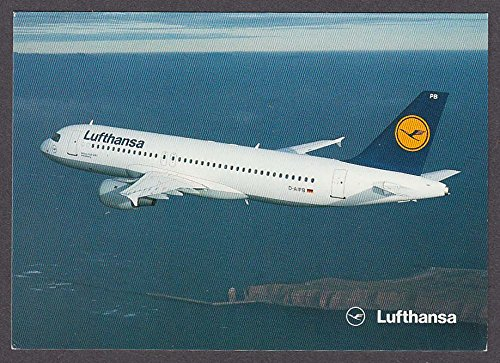 Lufthansa Airbus A320-200 airline-issue postcard at Amazon's