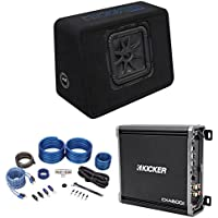 Kicker 44TL7S102 10 1200w L7 Solo-Baric L7S Loaded Enclosure+Kicker Amplifier