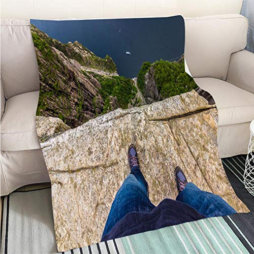 (BEICICI Weave Pattern Printed Multicolor Custom Design July 20 2015 at The Edge of The Pulpit Rock Norway Fun Design All-Season Blanket Bed or Couch)